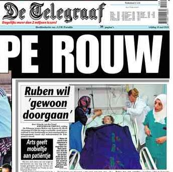 De Telegraaf heeft het lef gehad om Ruben rechtstreeks te benaderen in