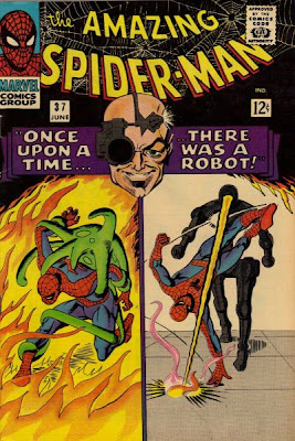 Amazing Spider-Man #37, Professor Stromm and his deadly robots, Steve Ditko cover