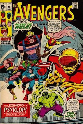 Avengers #88, Harlan Ellison,the Hulk, Psyklop and the Dark Gods