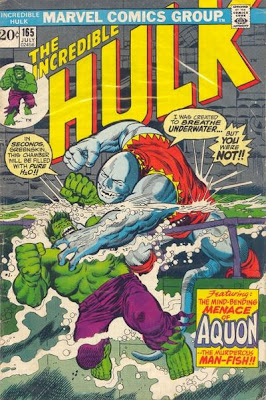 Incredible Hulk #165, Aquon and Captain Omen