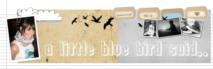 a little blue bird said