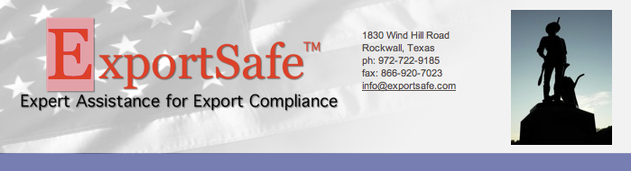 ExportSafe - Export Compliance and Related Topics - ITAR Compliance - DFW - Dallas, Texas