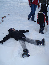 Aiden making a snow angel - Dec 08
