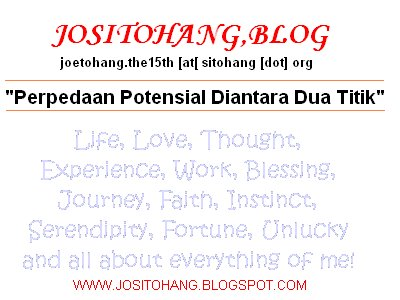 JoSITOHANG Blog