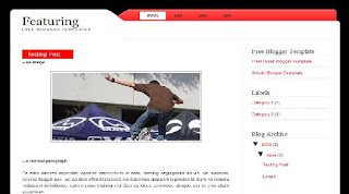 Featuring Blogger Template