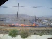 Incendio espontáneo en Vertedero de Juan Grande