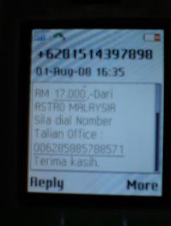 Astro SMS scam