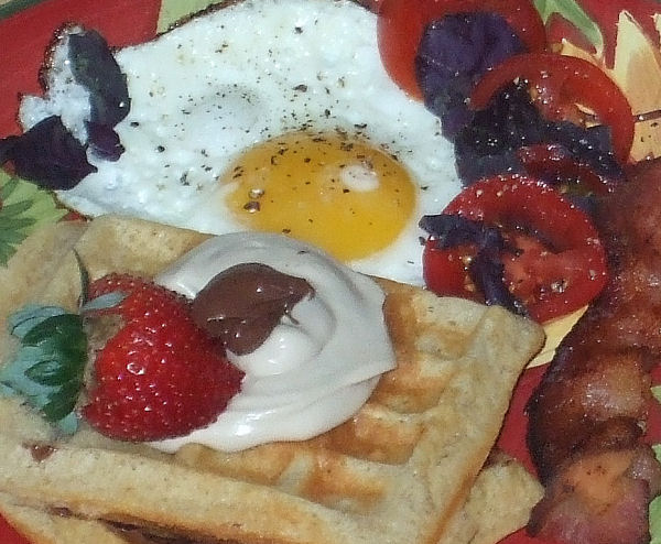 The Anti-Chef: Buttermilk Waffles with Balsamic Whip Cream