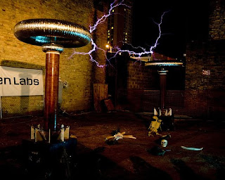 Creepy circus song's tesla coil generators