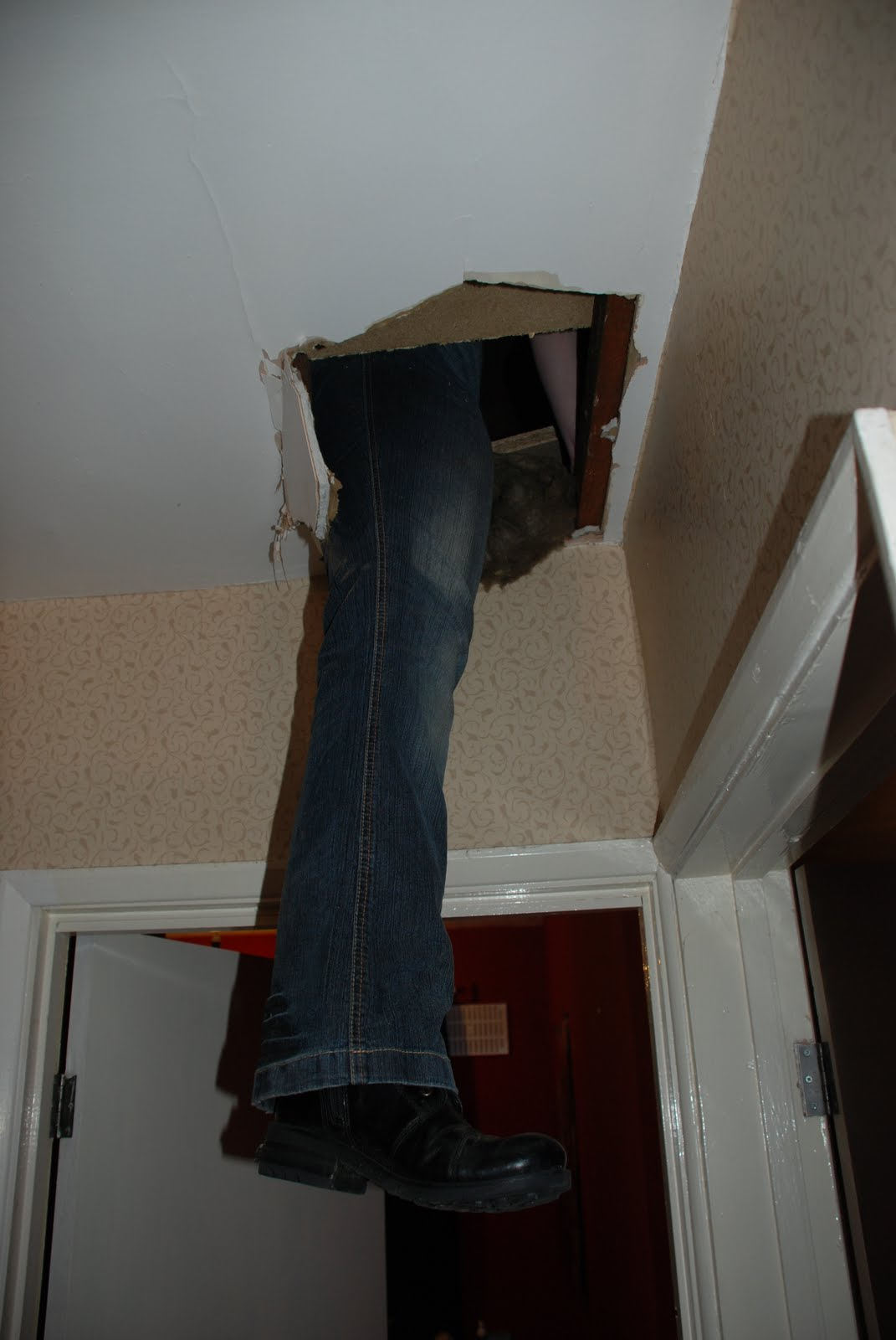 Putting My Foot Through The Ceiling