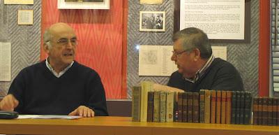 Dipl.-Ing. Bernd Illigner und Uwe Domke, beide Mitglied der Pirckheimer-Gesellschaft