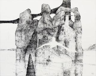 Walter Herzog Felseninsel, 1973, Radierung