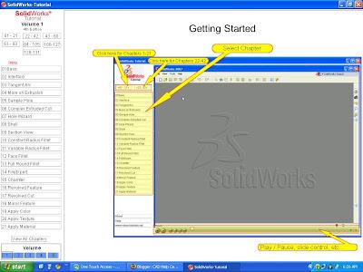 Cad Help Center Solidworks Video Tutorials 2007 2009