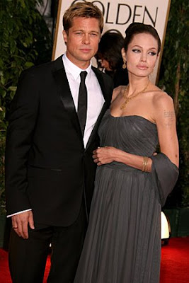 celebrity stock photos - Angelina Jolie and Brad Pitt