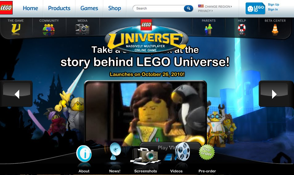 """Interactive Multimedia Technology: Online Lego Universe: """"Lego tries ..."""