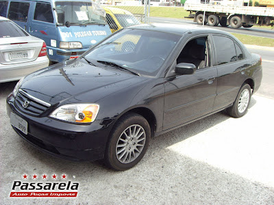 À VENDA   Honda Civic EX 1.7 2001 Automatico   Banco De Couro