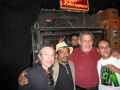 con Roberto González, el Estuches y Daniel Rivadeneira