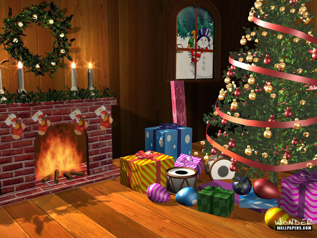 Crazy Frankenstein Christmas scenes wallpapers