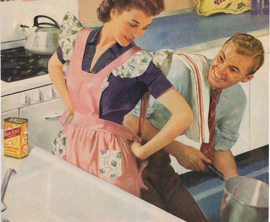 A saturday smile housewife says what for Classic 50s housewife