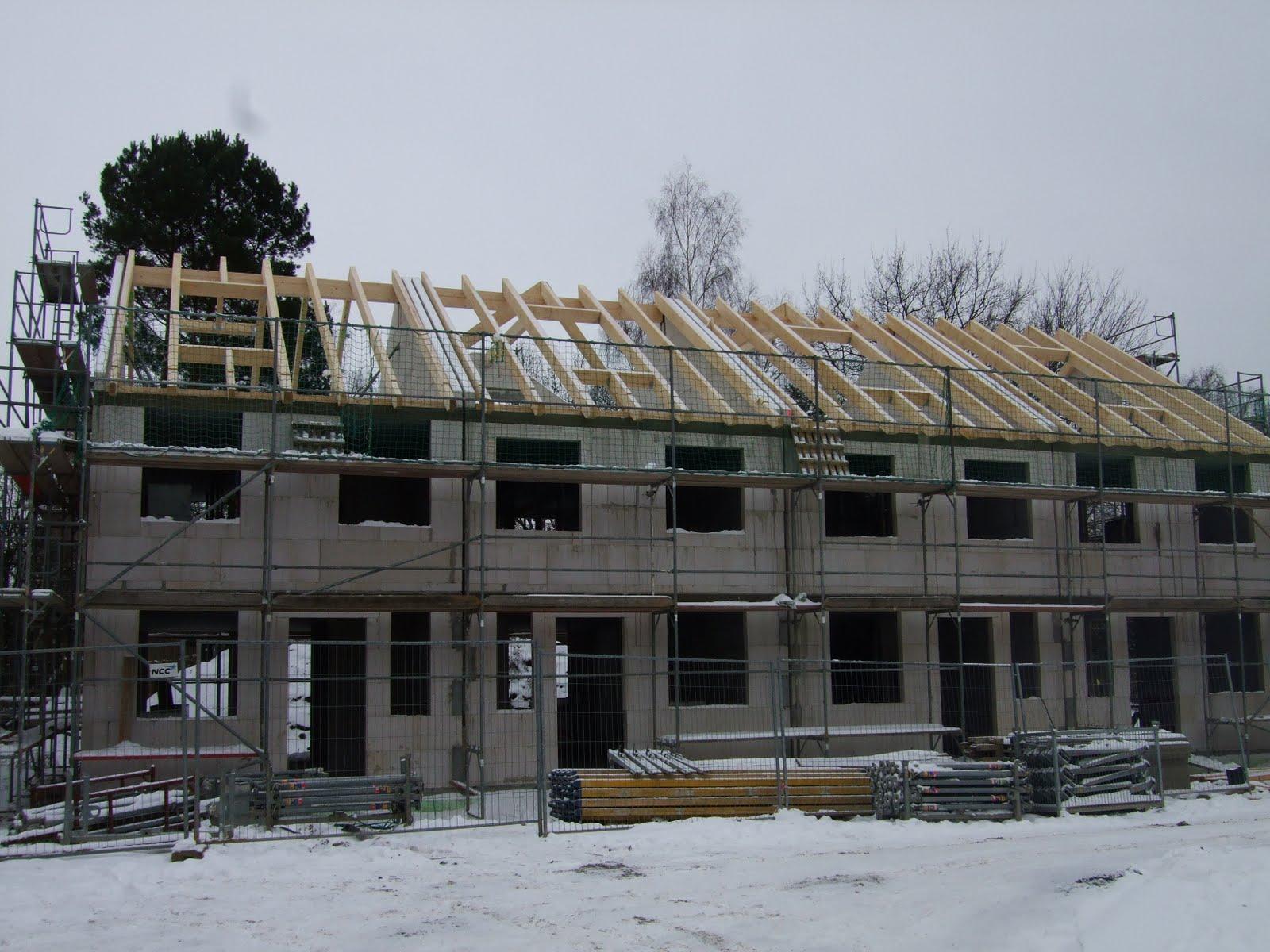 hausbau mit ncc deutschland typ tilia auch im schnee wird gebaut. Black Bedroom Furniture Sets. Home Design Ideas