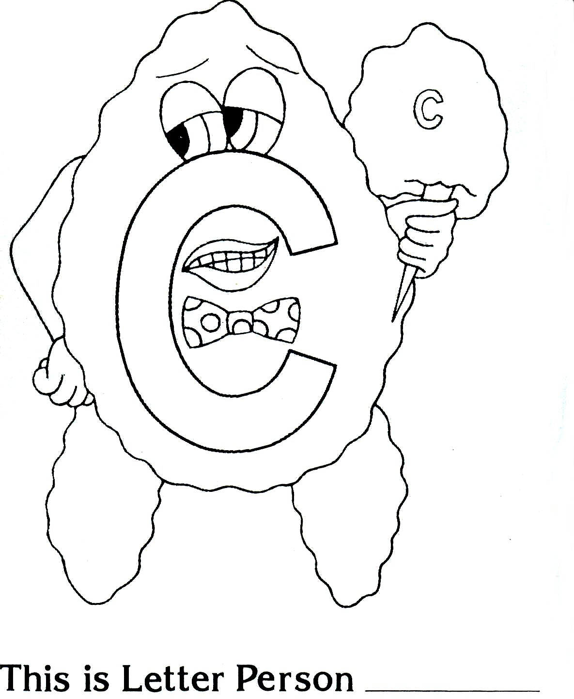 letter people free coloring pages - photo#4
