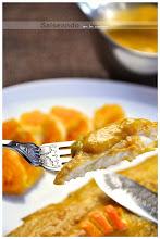 lenguado en salsa de naranja