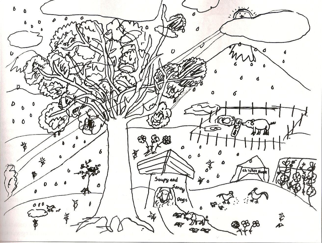 La niña de 10 años quie hizo este dibujo utilizó múltiples líneas