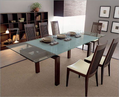 This modern dining room set,