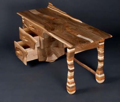 Rainbow desk by furniture artist allan lake furniture design for Allan lake furniture