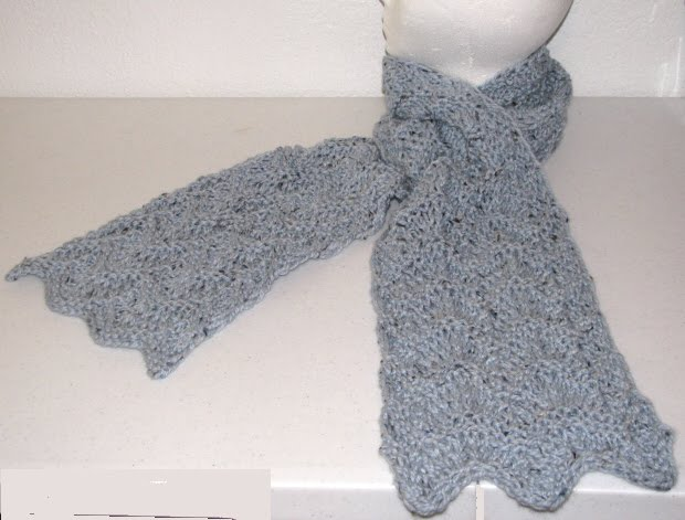 Knitted Scarf Pattern With Pointed Ends : Knitting Muse: New patterns