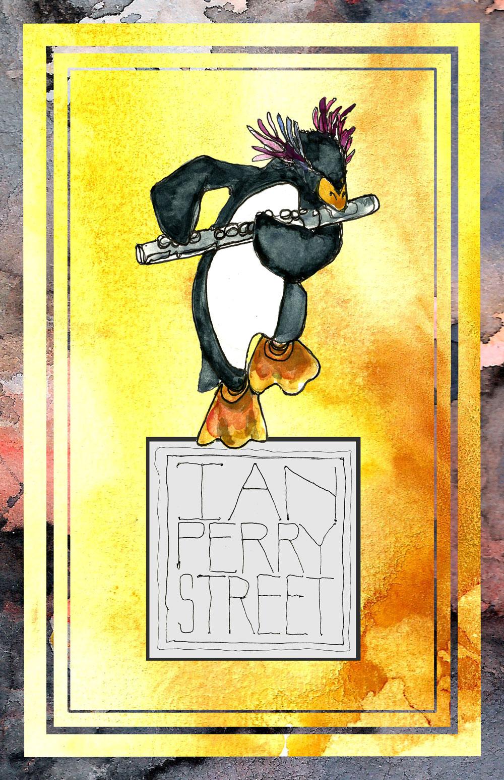 david street art ian 39 s penguin poster. Black Bedroom Furniture Sets. Home Design Ideas
