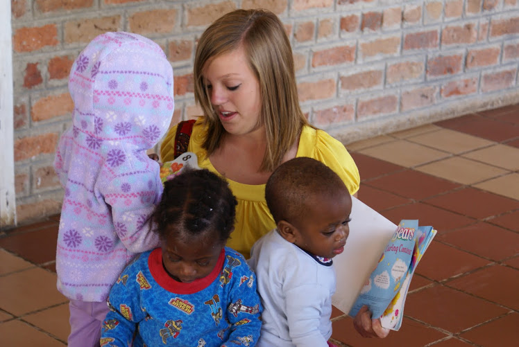 Erin Reading To Orphans