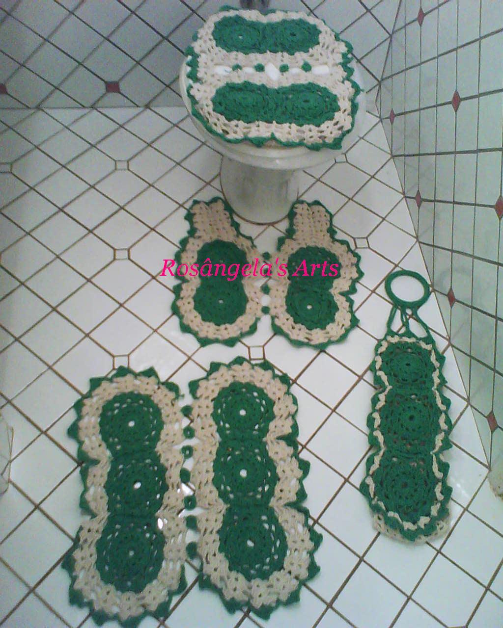 Jogo De Banheiro Verde E Branco : Ros?ngela artesanatos handworks jogo de banheiro verde