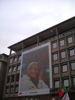 Mosaic of JPII in Cologne, made up of little pictures of youths all over the world