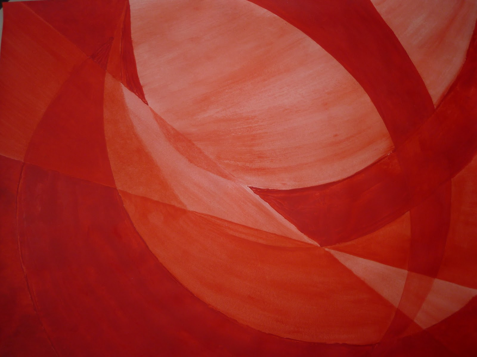 Red Monochrome Painting