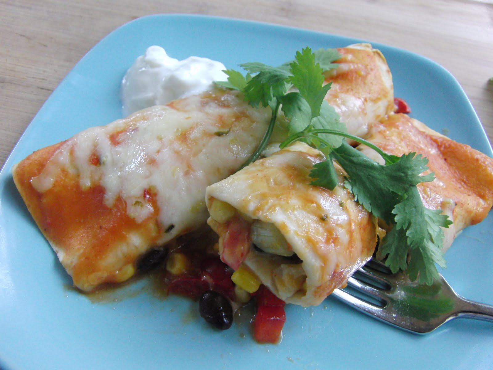 ... for a Year and Beyond: Black Bean and Summer Vegetable Enchiladas
