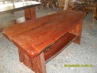 โต๊ะไม้หนา