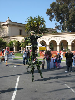 San Diego Earth Day 2008 at Balboa Park - Stilt Walker