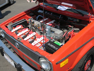 San Diego Earth Day 2008 at Balboa Park - VW Volkswagen convertible Rabbit converted to electric drive EV