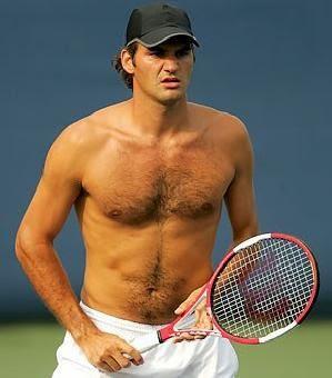 Roger Federer Bare Chest