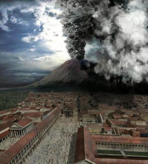 Pompeii and Herculaneum were destroyed and utterly buried by the eruption of Mount Vesuvius in 79 AD