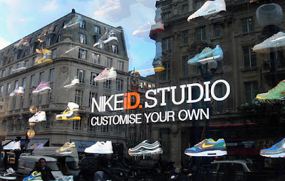 Nike outdoor advertising in London UK picture photo