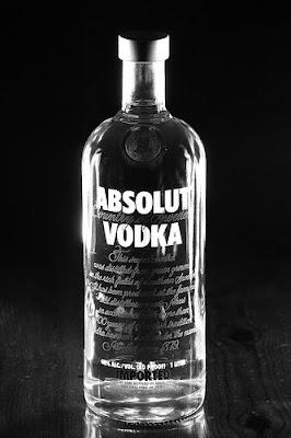 black & white absolut vodka ad