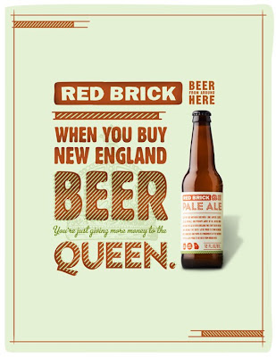 Red Brick beer ad image slogan