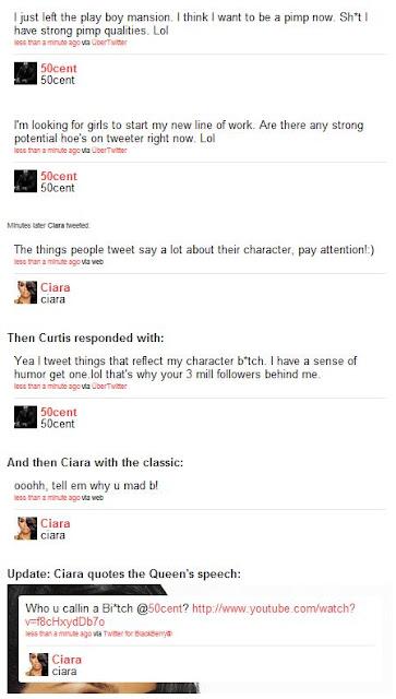 >Gossips // 50 Cent VS Ciara Sur Twitter