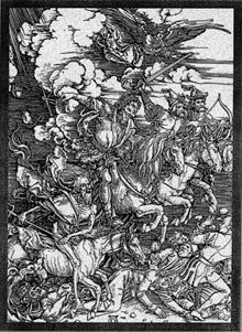 The Four Horsemen of the Apocalypse by Albrecht Dürer (1498).