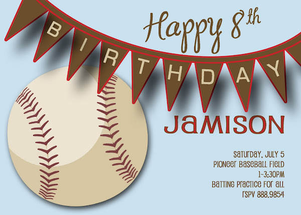 Slugger Birthday Invitation