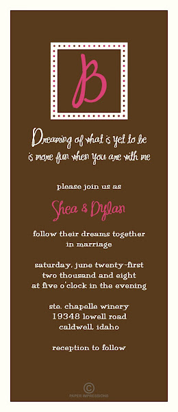Chic Formalities Wedding Invitation
