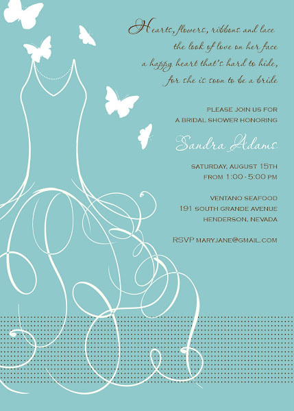 Whimsical Bride Bridal Shower Invitation