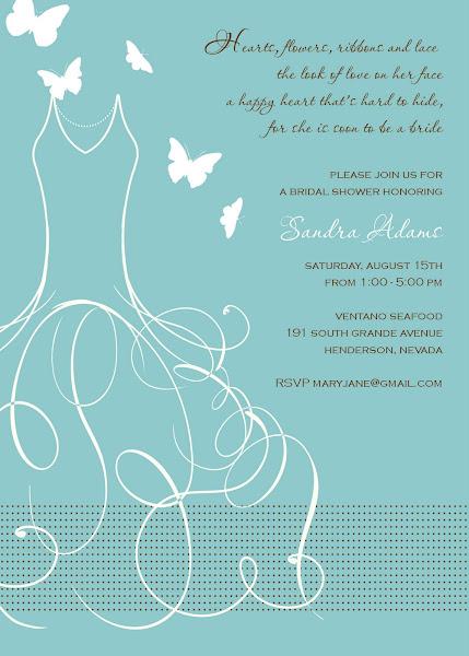 Whimsical Bride Bridal Shower Invitation